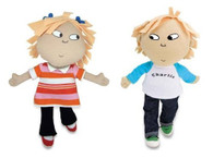 Charlie and Lola Soft Dolls, 8 inch (20cm)