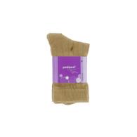 pediped Organic Cotton Rib Dress Socks - Khaki