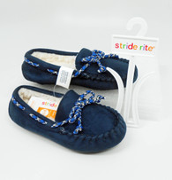 Stride Rite Navy Moccasin Slippers (Toddlers/Little Kids)