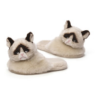 Gund Grumpy Cat Adult Sized Slippers, 11.5 inch (29.2 cm) long
