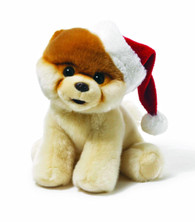 Gund the World's Cutest Dog - Santa Hat, 8 inch (20.3 cm)
