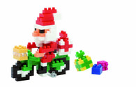 Nanoblock Santa Clause on the Bike 160 piece Model Kit