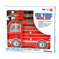 Me Time 3 Piece Meal Plate, Fork and Spoon Set - Fire Engine