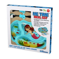 Me Time 3 Piece Meal Plate, Fork and Spoon Set - Mermaid
