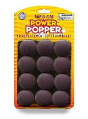 Hog Wild Popper Refill Balls set of 12 - Black