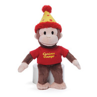 Curious George Birthday Polka Hat Plush, 8 inch (20.3 cm)