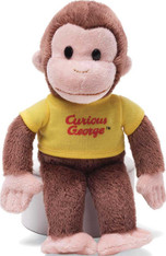 Curious George Plush Toy in a Classic YELLOW Shirt, 8 inch (20.3 cm)