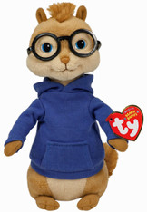 TY Alvin and Chipmunks Beanie Baby:  Simon, 8 inch (20.3 cm)