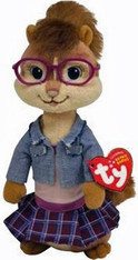 TY Alvin and Chipmunks Beanie Baby:  Jeanette, 8 inch (20.3 cm)