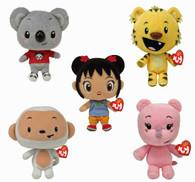 TY Nihao, Kai-lan Beanie Babies - Set of 5:  Kai-Lan, Hoho, Lulu, Rintoo, Tolee