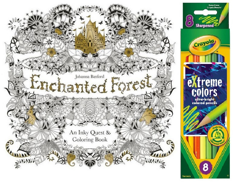 Enchanted Forest Coloring Book & Crayola Pencils I Curly Dani, Inc.