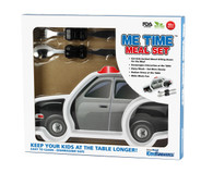Me Time 3 Piece Meal Plate, Fork and Spoon Set - Police Car