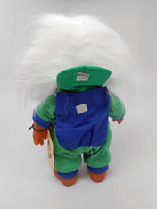 DAM Boy Jogger Troll with Backpack, White Hair, Green and Blue Outfit 8.5 inch (21.6 cm) Listing #8