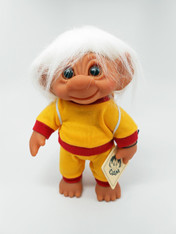 DAM Boy Jogger Troll with Backpack, White Hair, Yellow and Red Outfit 8.5 inch (21.6 cm) Listing #9