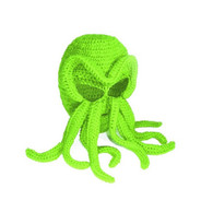 Cthulhu Knitted Acrylic Ski Mask, 15 inch (38.1cm) long