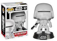 Star Wars The Force Awakens (EP7) Movie Based Pop! Collectible by Funko - First Order Snow Trooper + BONUS!