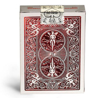 Bicycle MetalLuxe Playing Cards, Rider Back, Crimson Luxe (Red)