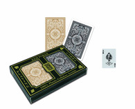 KEM Arrow Black and Gold Bridge Size Standard Index Playing Cards
