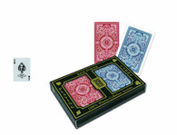 KEM Arrow Red and Blue Bridge Size Standard Index Playing Cards