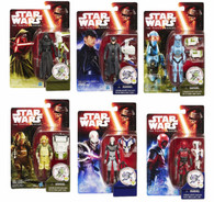 Star Wars The Force Awakens - Complete set of 6 Jungle Space 3.75 inch (9.53cm) Action Figures + BONUS!