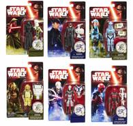 Star Wars The Force Awakens - Complete set of 6 Jungle Space 3.75 inch (9.53cm) Action Figures + BONUS!
