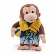 Curious George Plush Toy in Swim Trunks, 12 inch (30.48 cm)
