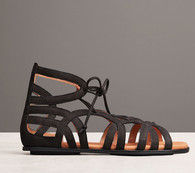 Gentle Souls by Kenneth Cole Break My Heart 3 Gladiator Sandals, Nubuck, Color:  Black