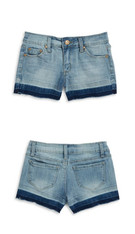 Tractr 5 Pocket Ombre Shorts, Color:  Light Indigo
