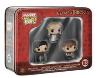Game of Thrones Pocket Pop! Mini Vinyl Figure Tin (3-Pack) Funko Collectible