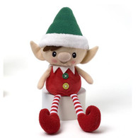 Peppermint Boy Elf (Green Hat), 14 inch (35.56 cm)