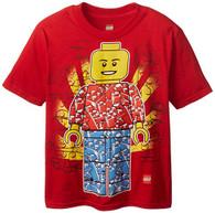 Lego Little Boys' Man T-Shirt, Red, 5/6