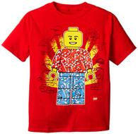 Lego Big Boys' Man T-Shirt, Red, 8