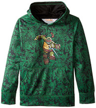 Teenage Mutant Ninja Turtles Big Boys' Character Hoodie, Green Print, 10/12