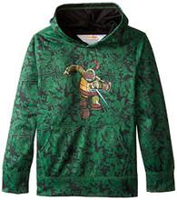 Teenage Mutant Ninja Turtles Big Boys' Character Hoodie, Green Print, 10/12