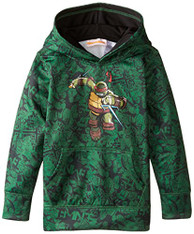 Teenage Mutant Ninja Turtles Little Boys' Character Hoodie, Green Print, 7