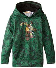 Teenage Mutant Ninja Turtles Little Boys' Character Hoodie, Green Print, 7