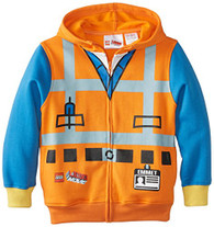 Lego Little Boys' Characters Hoodie, Orange, 5/6