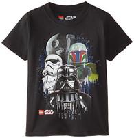 Star Wars Boys' Darth Vader T-Shirt, Vader Black, 7