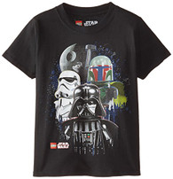 Star Wars Boys' Darth Vader T-Shirt, Vader Black, 5/6