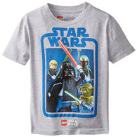 Star Wars Boys' T-Shirt, Gray, 7