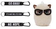 """Gund Grumpy Cat Mini With Glasses 4.5 inch Plush AND 3 Laynards: """"No. Nope"""", ..."""