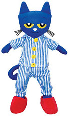 MerryMakers Pete the Cat Bedtime Blues Plush Doll, 14.5""