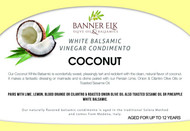 Coconut, White Balsamic