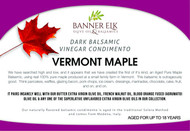 Vermont Maple, Dark Balsamic