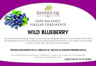 Wild Blueberry, Dark Balsamic