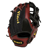 Vinci Pro Mesh Series JV21-M Bordeaux with Black Mesh Baseball Glove 11.5 inch