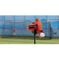 PowerAlley Pro Real Ball Pitching Machine & PowerAlley 22' Batting Cage