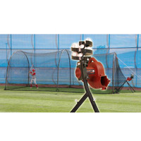BaseHit Pitching Machine & Xtender 24' Batting Cage