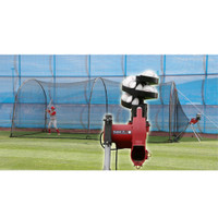 Heater Jr Pitching Machine & Xtender 24' Batting Cage