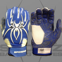 2016 HYBRID Spiderz Royal/White Batting Gloves
